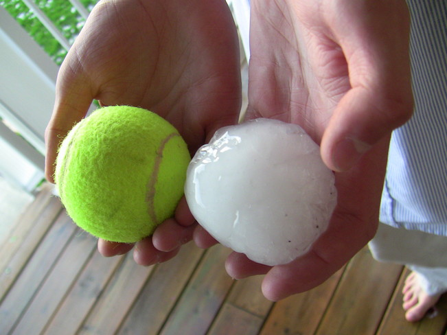 Baseball size hail hits Jonesboro Arkansas