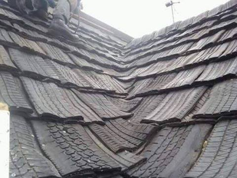 Tire Roof. Tire Roof. Impact Resistant Tire Roof