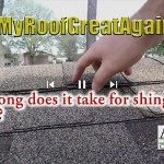 Make my roof great again - How long does it take for shingles to seal
