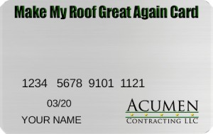 My Roof Great Again Card