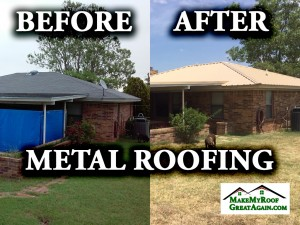 Metal roof before and after pictures